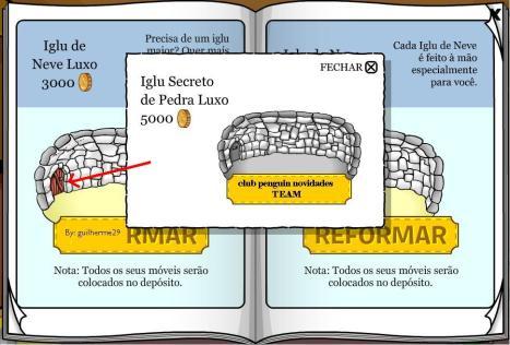 Iglu secreto de pedra Luxo